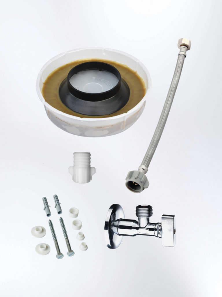 Kit de instalaci n para inodoro descarga al piso edesa for Como fijar un inodoro al piso